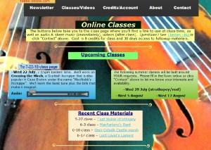 online class screen